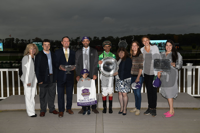 Sistercharlie wins the 2019 Flower Bowl Stakes at Belmont Park. Photo: Coglianese Photos
