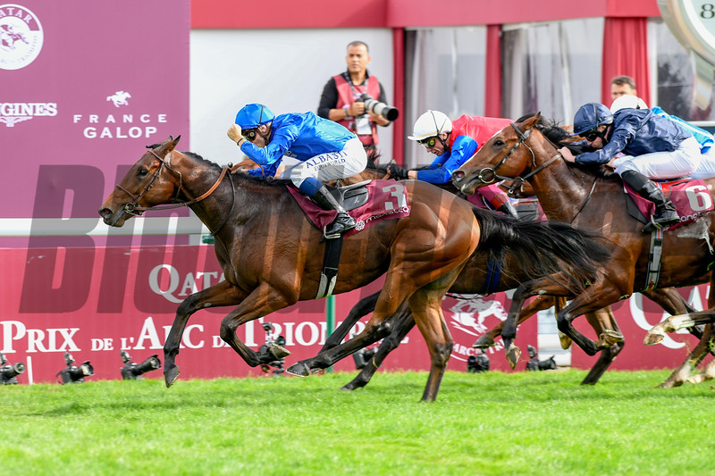Villa Marina wins 2019 Longines Prix De L'Opera. Photo: Mathea Kelley