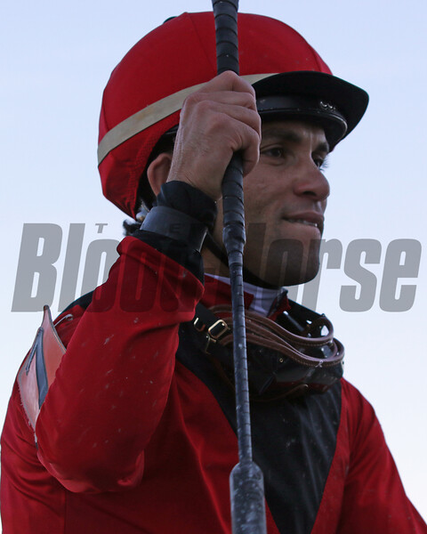 Joel Rosario after winning the 28th Running of the Gallant Bob Stakes (GII) aboard King Jack at Parx on September 21, 2019. Photo By: Chad B. Harmon