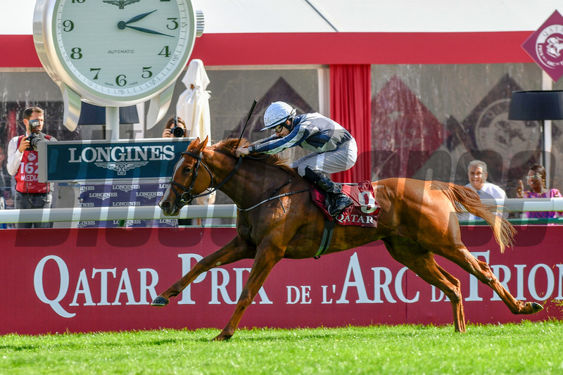 Albigna wins 2019 Prix Marcel Boussac-Criterium Des Pouliches. Photo: Mathea Kelley