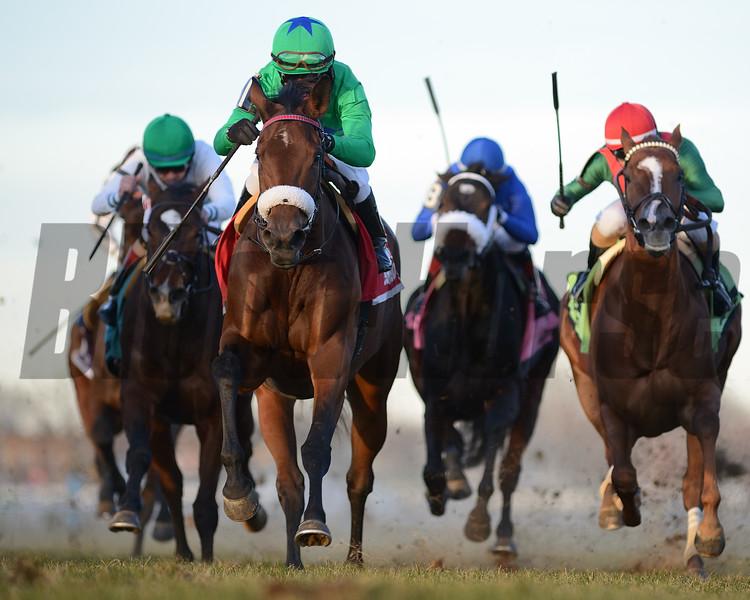Si Que Es Buena wins the 2019 Long Island Stakes<br /> Coglianese Photos
