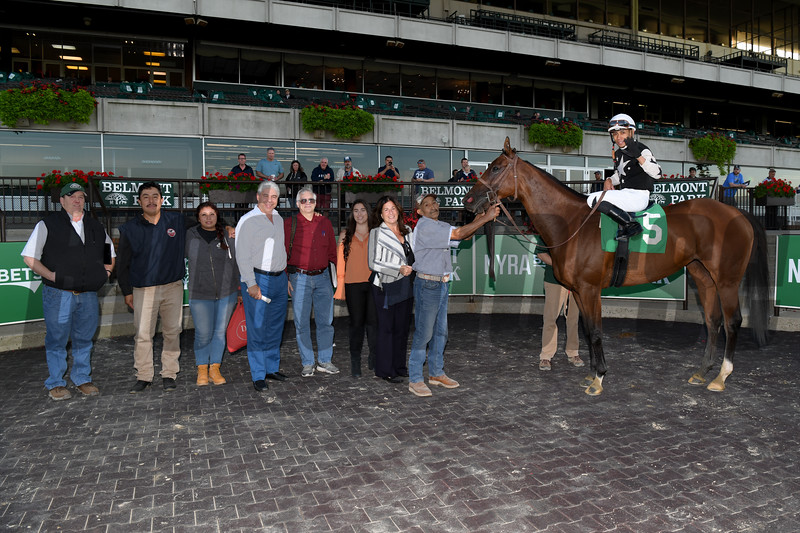 Jockey Manny Franco rode five winners on September 13, 2019 at Belmont Park, including the first four races on the eight-race card.<br /> Coglianese Photos