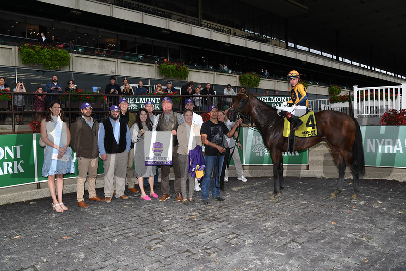 Four Wheel Drive wins the 2019 Futurity Stakes at Belmont Park<br /> Coglianese Photos