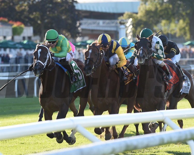 Arklow wins the 2019 Joe Hirsch Turf Classic Stakes at Belmont Park<br /> Coglianese Photos/Chelsea Durand