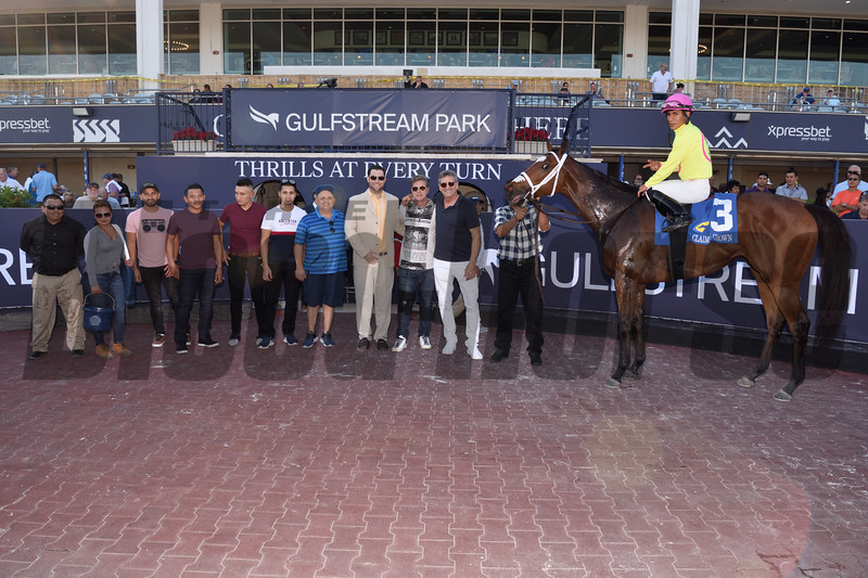 Shekky Shebaz wins the 2019 Claiming Crown Canterbury at Gulfstream Park<br /> Coglianese Photos