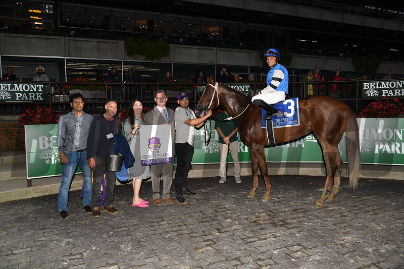 Wicked Whisper wins the 2019 Frizette Stakes at Belmont Park<br /> Coglianese Photos