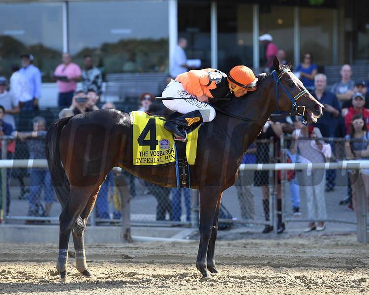 Imperial Hint wins the 2019 Vosburgh Stakes at Belmont Park     <br /> Coglianese Photos/Joe Labozzetta