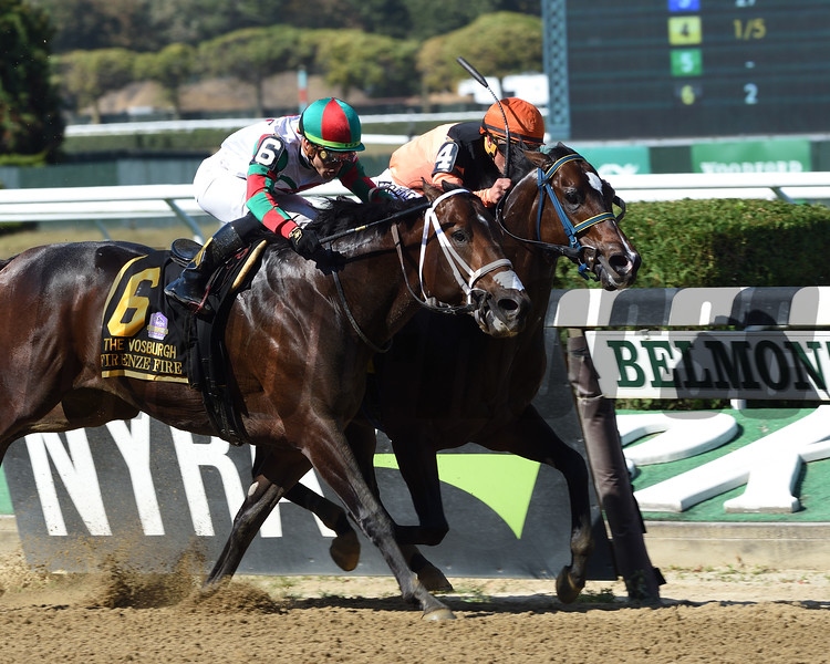 Imperial Hint wins the 2019 Vosburgh Stakes at Belmont Park     <br /> Coglianese Photos