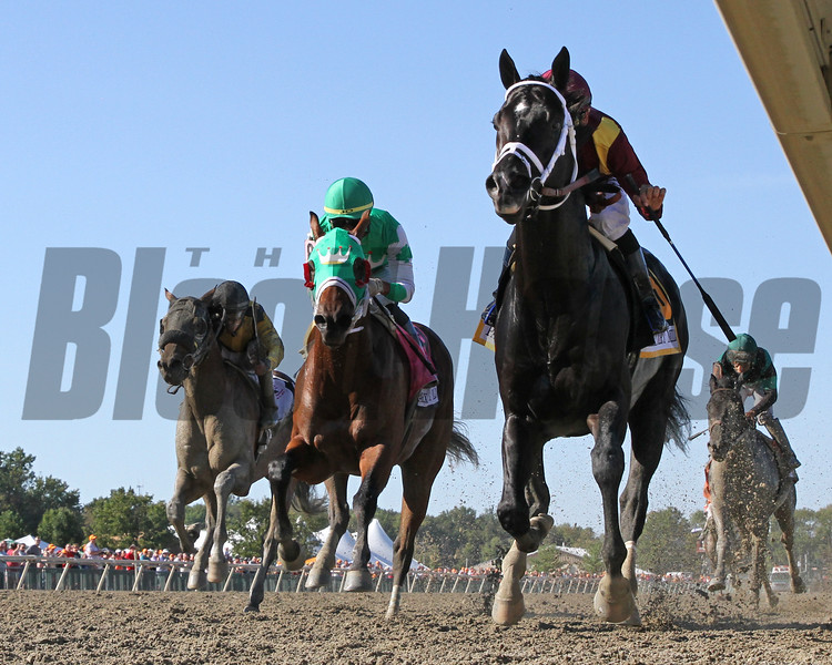Coal Front with Mike Smith win the Parx Dirt Mile (Listed) at Parx on September 21, 2019. Photo By: Chad B. Harmon