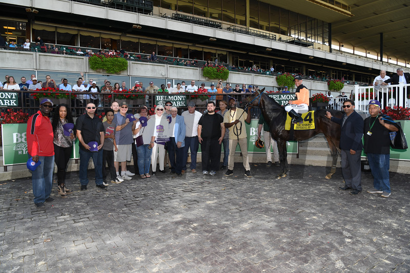 Imperial Hint wins the 2019 Vosburgh Stakes at Belmont Park<br /> Coglianese Photos