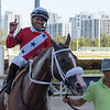 Great Sister Diane wins the 2019 Monroe Stakes at Gulfstream Park<br /> Coglianese Photos/Ryan Thompson
