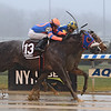 Bank On Shea wins the 2019 NYSSS Great White Way at Aqueduct    <br /> Coglianese Photos/Chelsea Durand