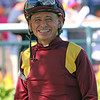 Mike Smith prior to winning the Parx Dirt Mile (Listed) on Coal Front at Parx on September 21, 2019. Photo By: Chad B. Harmon