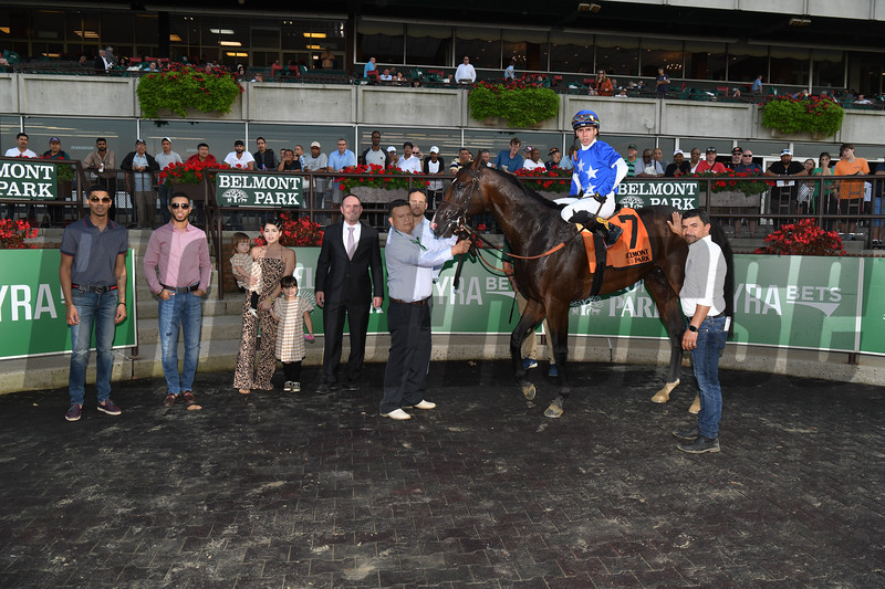 Structor wins the 2019 Pilgrim Stakes at Belmont Park<br /> Coglianese Photos