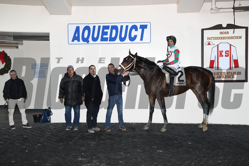 Firenze Fire wins the 2019 Gravesend Stakes at Aqueduct. Photo: Coglianese Photos
