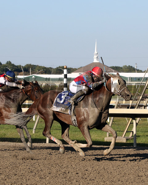 Street Band with Sophie Doyle win the 51st Running of The Cotillion Stakes (GI) at Parx on September 21, 2019. Photo By: Chad B. Harmon