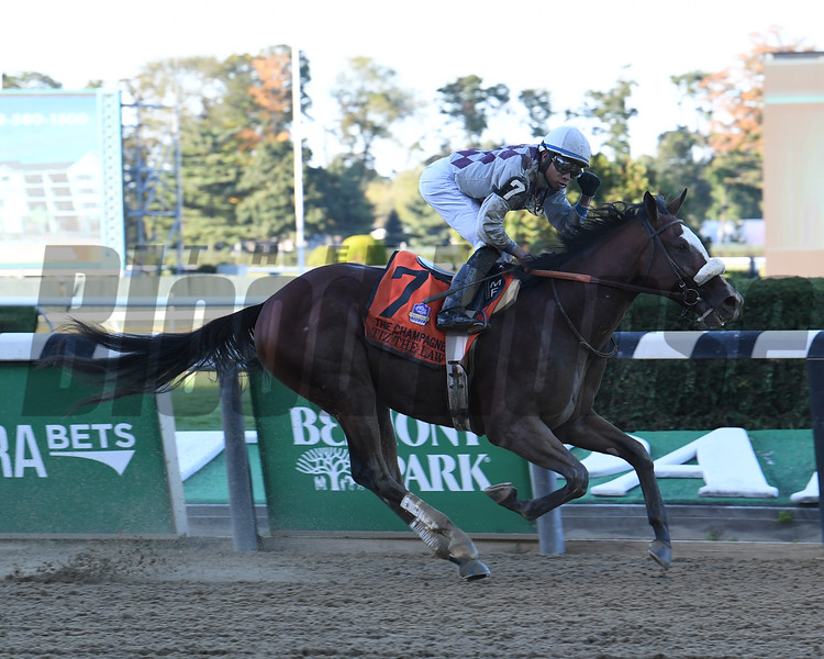 Tiz the Law wins the Champagne Stakes at Belmont Park<br /> Coglianese Photos/Susie Raisher
