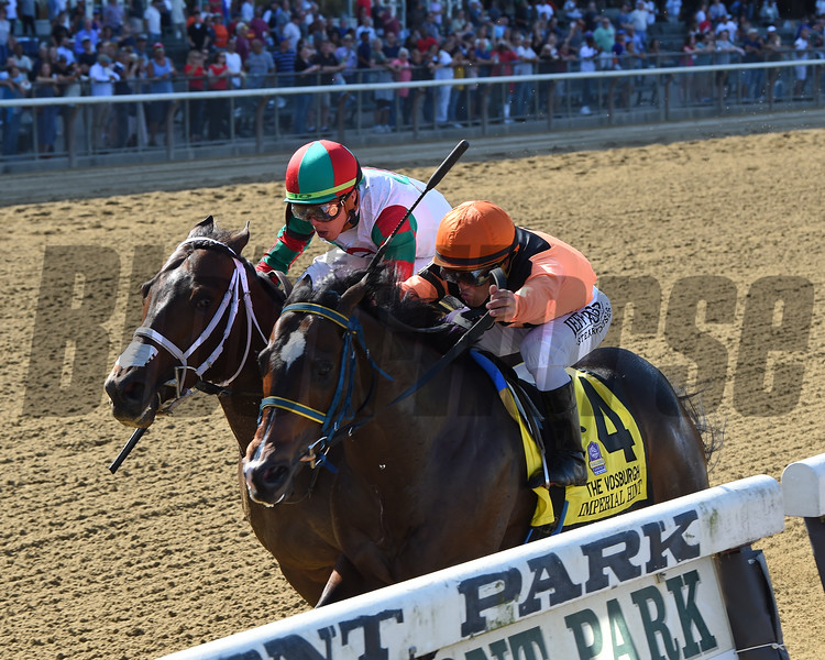Imperial Hint wins the 2019 Vosburgh Stakes at Belmont Park     <br /> Coglianese Photos/Chelsea Durand