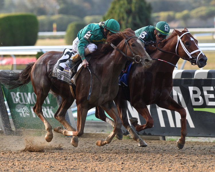 Code of Honor wins the Jockey Club Gold Cup after the disqualification of Vino Rosso, who finished first<br /> Coglianese Photos