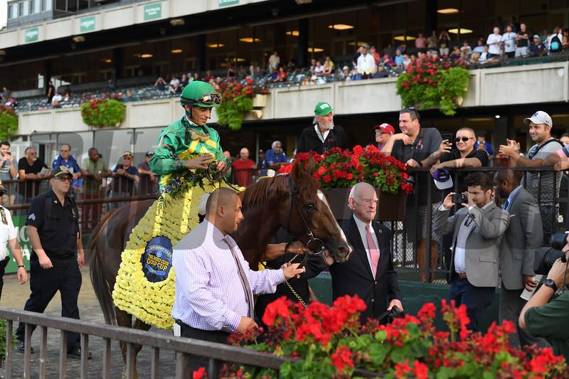 Code of Honor wins 2019 Jockey Club Gold Cup at Belmont Park. Photo: Coglianese Photos/Susie Raisher