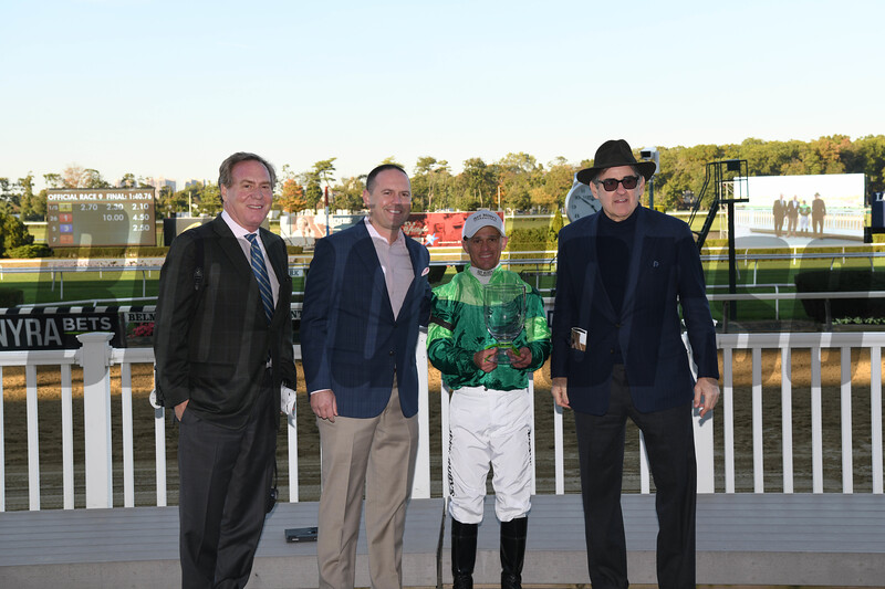 Fifty Five wins the 2019 Ticonderoga Stakes at Belmont Park<br /> Coglianese Photos
