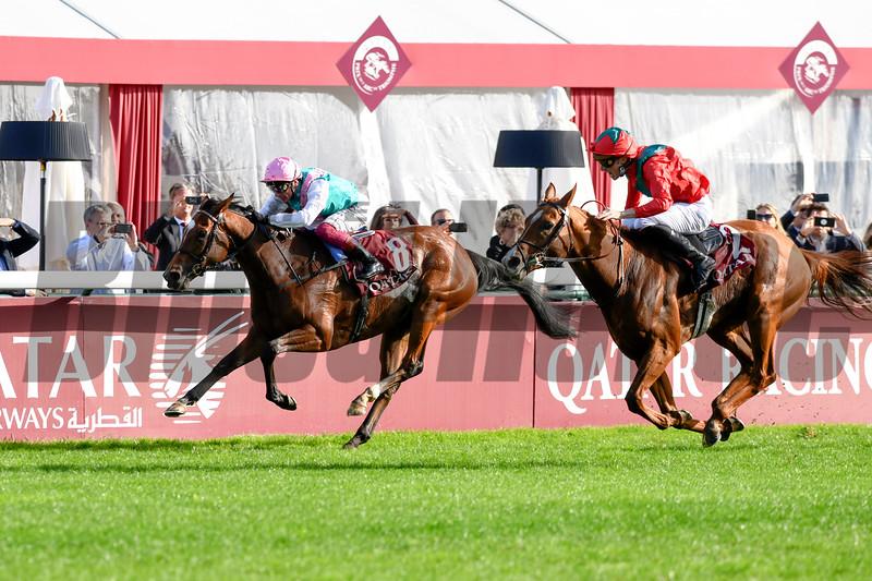 Waldgeist Pierre-Charles Boudot Win the Qatar Prix de l'Arc de Triomphe, 10-6-19. Trained by Andre Fabre, Mathea Kelley-Bloodhorse