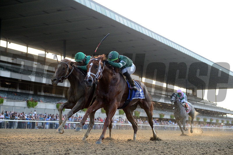 Code of Honor wins 2019 Jockey Club Gold Cup at Belmont Park. Photo: Coglianese Photos