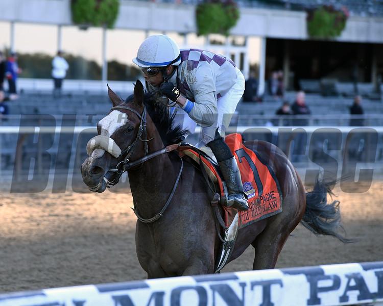 Tiz the Law wins the Champagne Stakes at Belmont Park<br /> Coglianese Photos/Joe Labozzetta