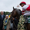 Omaha Beach and Mike Smith after winning the Arkansas Derby at Oaklawn Park on April 13th, 2019.<br /> Ryan Thompson Photo