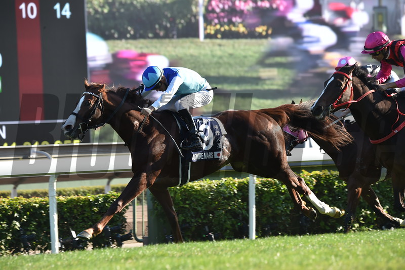 Admire Mars ridden by Christophe Soumillon wins the 2019 Hong Kong Mile<br /> Katsumi Saito