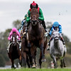 Oleksandra and Joel Rosairo win the G3 Buffalo Trace Franklin County Stakes_Neil Drysdale Trainer, Keenland Race Course, Lexington, KY, 10-11-19 MatheaKelley-racingfotos