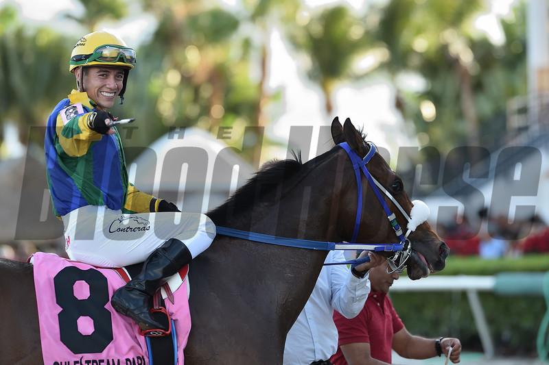Sacamandu wins the 2019 Copa Velocidad del Caribe Stakes at Gulfstream Park<br /> Coglianese Photos/Ryan Thompson
