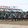 The start of the 2021 Personal Ensign Stakes at Saratoga won by Letruska (#6)<br /> Coglianese Photos/Janet Garaguso