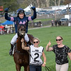 Trainer Keri Brion, far right is exultant afterThe Mean Queen ridden by Richard Condon wins the Grand National (GI) at the Far Hills Race Course during the 100th running of The Far Hills Race Meeting  Saturday Oct. 16, 2021 in Far Hills, NJ