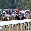Firenze Fire with Jose Ortiz savages Yaupon with Ricardo Santana Jr. in the stretch of the 42nd Running of The Forego (GI) at Saratoga on August 28, 2021. Photo By: Chad B. Harmon