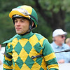 Joel Rosario in the paddock prior to winning the 74th Running of The Sword Dancer (GI) at Saratoga on August 28, 2021. Photo By: Chad B. Harmon