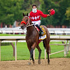 Letruska with Irad Ortiz Jr. wins the Personal Ensign Stakes (G1) at Saratoga Race Course in Saratoga Springs, N.Y., on Aug. 28, 2021.