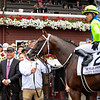 Winning connections in the winner's circle after Jackie's Warrior with Joel Rosario win the H. Allen Jerkens Memorial Stakes (G1) at Saratoga Race Course in Saratoga Springs, N.Y., on Aug. 28, 2021.