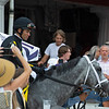 Fans watching the favorite as he steps on to the track. Knicks Go with Joel Rosario wins the Whitney (G1). <br /> Saratoga racing scenes at Saratoga in Saratoga Springs, N.Y. on Aug. 7, 2021.