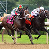 Yaupon with Ricardo Santana Jr. wins the Forego Stakes (G1) at Saratoga Race Course in Saratoga Springs, N.Y., on Aug. 28, 2021.