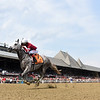 Steve Asmussen breaks the training win record with Stellar Tap at Saratoga on August 7, 2021<br /> Coglianese Photos