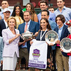 Andres Gutierrez, Fausto Gutierrez, Nick Martinez and winning connections in the winner's circle after Letruska with Irad Ortiz Jr. win the Personal Ensign Stakes (G1) at Saratoga Race Course in Saratoga Springs, N.Y., on Aug. 28, 2021.
