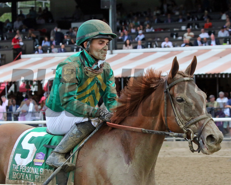 Royal Flag with Joel Rosario after the 74th Running of The Personal Ensign (GI) at Saratoga on August 28, 2021. Photo By: Chad B. Harmon