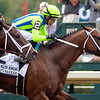 Jackie's Warrior with Joel Rosario wins the H. Allen Jerkens Memorial Stakes (G1) at Saratoga Race Course in Saratoga Springs, N.Y., on Aug. 28, 2021.