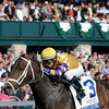 Caption: Stately Victor with Alan Garcia wins the Bluegrass Stakes (gr. I).<br /> Bluegrass Stakes day at Keeneland in Lexington, Ky. on April 10, 2010.<br /> BluegrassStakes Origs1 image954<br /> PHoto by Anne M. Eberhardt