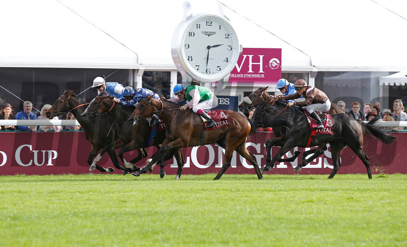 Silasol (rail) wins the Marcel Boussac from Topaze Blanche (middle) and Alterite (4), Longchamp 07/10/12