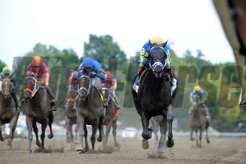 Shanghai Bobby wins the Hopeful Stakes at Saratoga.<br /> Photo by Coglianese Photos