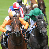Royal Ascot 2012, 6/19/12, Most Improved, Kieran Fallon up, wins the St James Place Stakes, photo by Mathea Kelley Ascot Race Course; (orange silks)