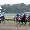 Handsome Mike w/Irad Ortiz Jr. up wins the 33rd Running of the Pennsylvania Derby (GII) at Parx on September 22, 2012 beating Macho Macho w/Corey Nakatani up, Golden Ticket w/David Cohen up, Stephanoatsee w/Sheldon Russell up, & Alpha w/Ramon Dominguez up.<br /> Photo by Chad B. Harmon