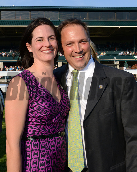 Julie and Kerry Cauthen. Toyota Blue Grass (gr. I)  on April 14, 2012, at Keeneland in Lexington, Ky.<br /> Photo by Anne M. Eberhardt